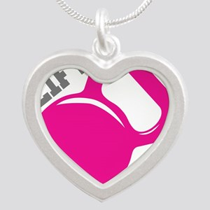 Lift More Kettlebell Silver Heart Necklace