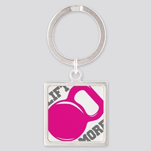 Lift More Kettlebell Square Keychain