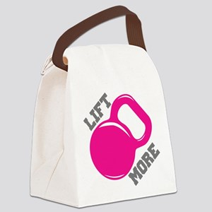 Lift More Kettlebell Canvas Lunch Bag
