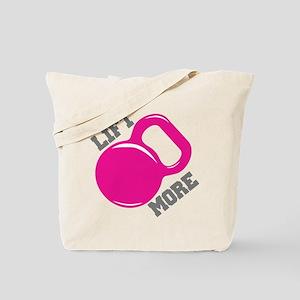 Lift More Kettlebell Tote Bag