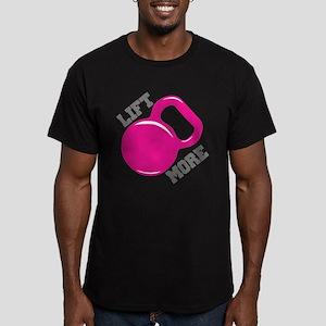 Lift More Kettlebell Men's Fitted T-Shirt (dark)