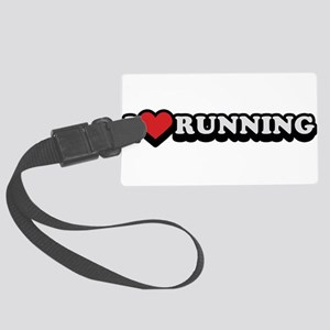 I Love Running Large Luggage Tag