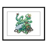 Creature Feature! Large Framed Print