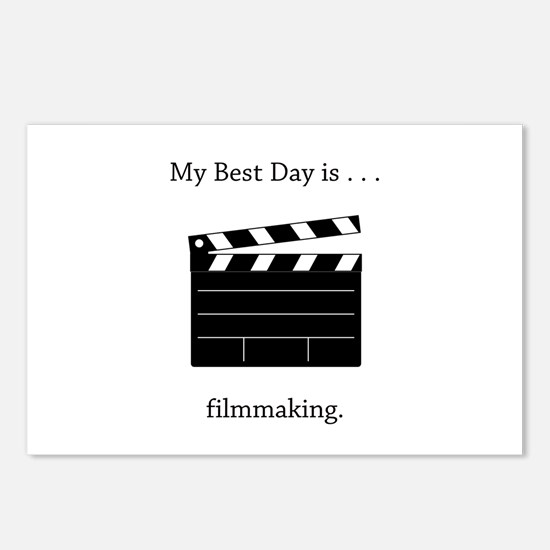 Best Day Filmmaking Gifts Postcards (Package of 8)
