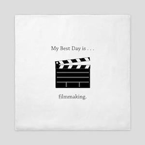 Best Day Filmmaking Gifts Queen Duvet