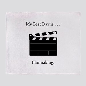 Best Day Filmmaking Gifts Throw Blanket