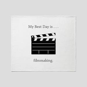 Best Day Filmmaking Gifts Throw Blanket