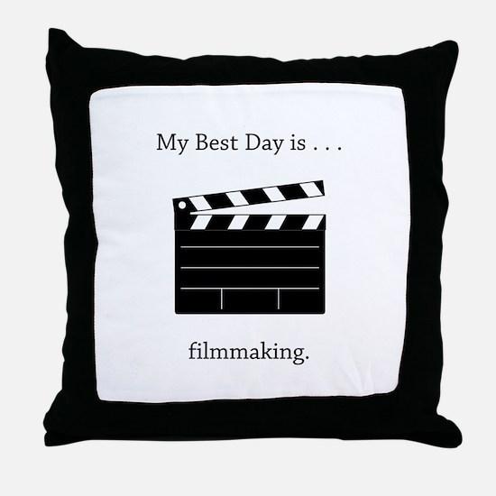Best Day Filmmaking Gifts Throw Pillow