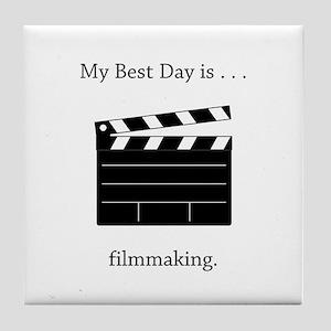Best Day Filmmaking Gifts Tile Coaster