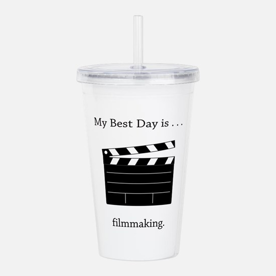 Best Day Filmmaking Gifts Acrylic Double-wall Tumb