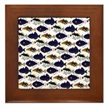 Four Pacific Triggerfish Pattern Framed Tile