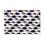 Four Pacific Triggerfish Pattern Posters