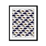 Four Pacific Triggerfish Pattern Framed Panel Prin
