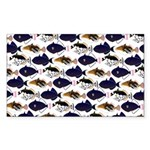 Four Pacific Triggerfish Pattern Sticker