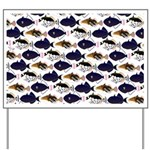 Four Pacific Triggerfish Pattern Yard Sign