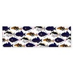 Four Pacific Triggerfish Pattern Bumper Sticker