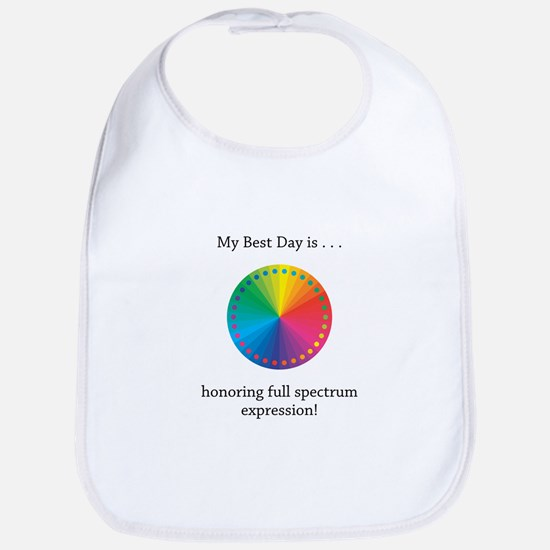 Best Day Colorful Expression Gifts Bib