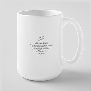 Dios es amor - 1 Juan 4:16 Large Mug
