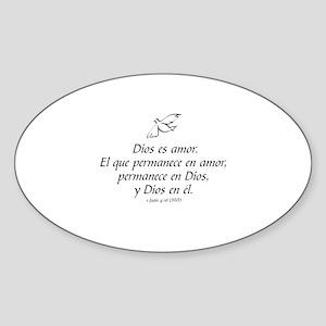 Dios es amor - 1 Juan 4:16 Sticker (Oval)