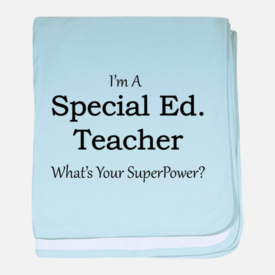 Special Ed. Teacher baby blanket