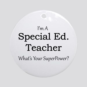 Special Ed. Teacher Round Ornament