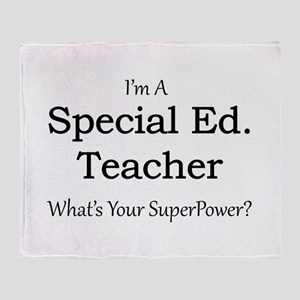 Special Ed. Teacher Throw Blanket