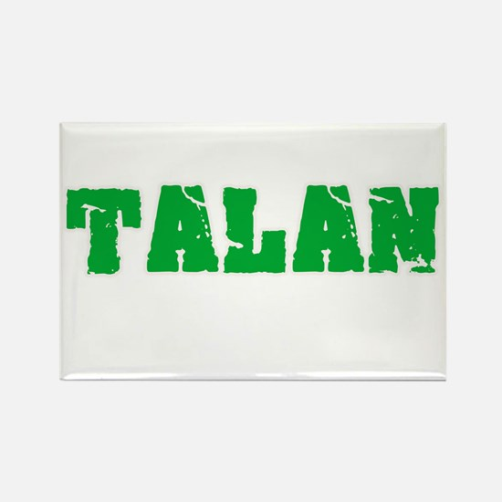 Talan Name Weathered Green Design Magnets