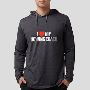 I Love My Rowing Coach Mens Hooded Shirt