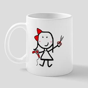 Girl & Hair Dryer Mug