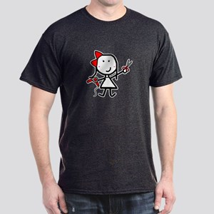 Girl & Hair Dryer Dark T-Shirt