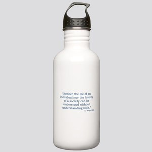 C. Wright Mills Quote Water Bottle