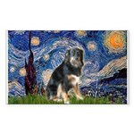 Starry - Aussie Shep (tri-L) Sticker (Rectangle)