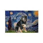 Starry - Aussie Shep (tri-L) Rectangle Magnet
