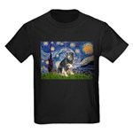 Starry - Aussie Shep (tri-L) Kids Dark T-Shirt