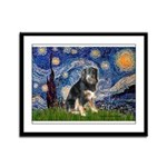Starry - Aussie Shep (tri-L) Framed Panel Print