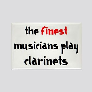 finest musician clarinet Rectangle Magnet