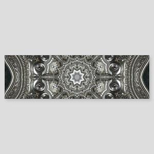 vintage metal mandala bohemian Bumper Sticker