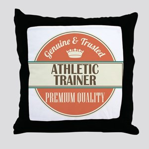 athletic trainer vintage logo Throw Pillow