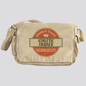 athletic trainer vintage logo Messenger Bag