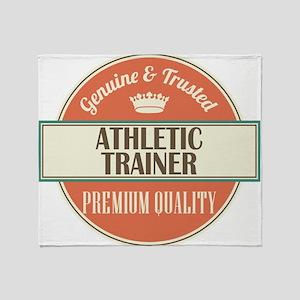 athletic trainer vintage logo Throw Blanket