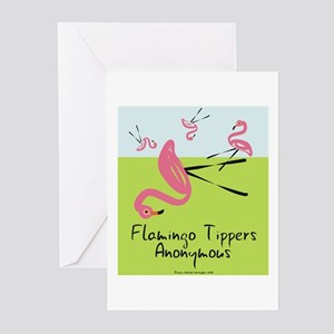 Flamingo Tippers Anonymous Greeting Cards (Pk of 2