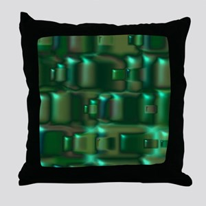 Green Tiles Throw Pillow