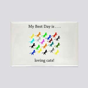 Best Day Loving Cats Gifts Magnets