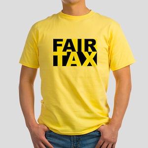 Fair Tax Yellow T-Shirt