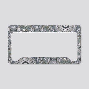 summer grey beach mosiac License Plate Holder