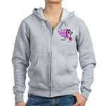 Russian Pink Wolf-Panther Zip Hoodie