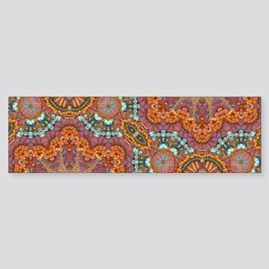 turquoise orange bohemian moroccan Bumper Sticker
