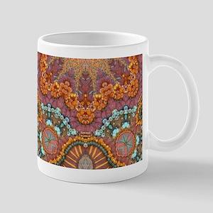 turquoise orange bohemian moroccan Mugs