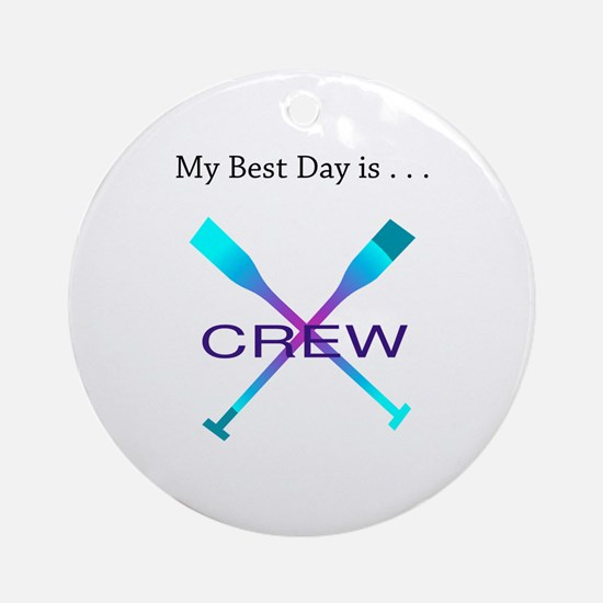 Best Day Rowing Crew Gifts Round Ornament