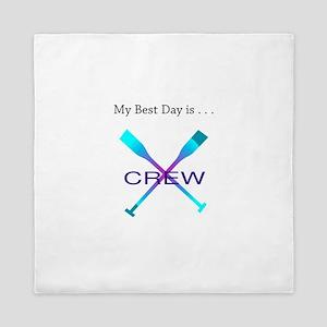 Best Day Rowing Crew Gifts Queen Duvet